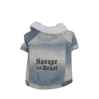 Manteau pour chien Savage Beast - Taille L - Bleu