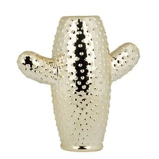 Vase Cactus - H. 23,5 cm - Or