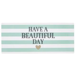Plaque métallique de décoration - Beautiful Day - Vert