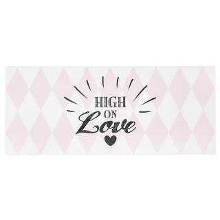 Plaque métallique de décoration - Love - Rose