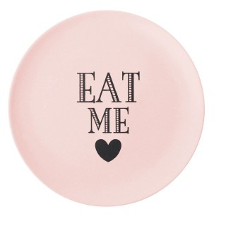 Assiette Eat Me - Diam. 20 cm - Rose