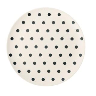 Assiette Pois - Diam. 20 cm - Noir