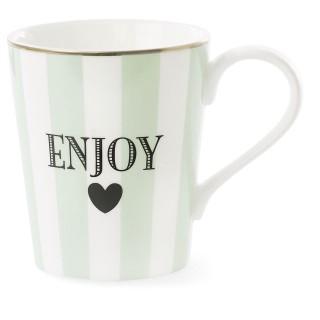 Mug avec poignée à Rayures Enjoy - Vert