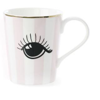 Mug avec poignée à Rayures Œil - Rose