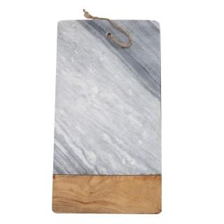 Planche à découper en marbre - 45 x 25 cm - Gris