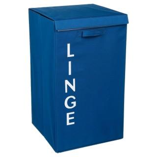 Panier à linge - 36 x 63 cm - Bleu foncé