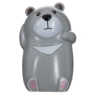 Porte brosse à dents enfant à ventouse - Ours - Gris