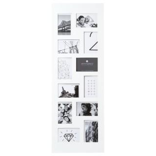 Pêle-mêle 12 photos Rectangulaire - H. 96 cm - Blanc