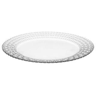 Assiette plate Habitat - Diam. 30 cm - Transparent