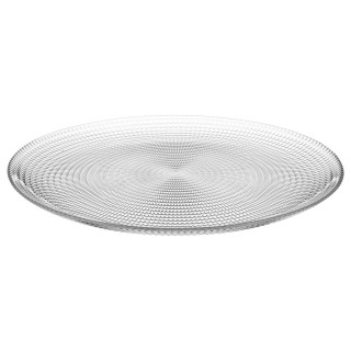 Assiette plate Génération - Diam. 27 cm - Transparent