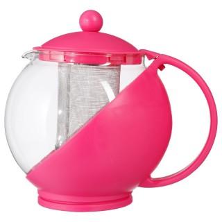 Théière avec filtre Colorée - 1,25 L - Rose
