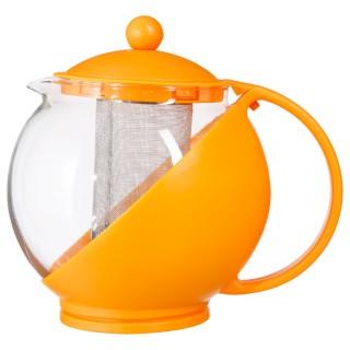 Théière avec filtre Colorée - 1,25 L - Orange