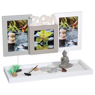 Jardin zen avec Cadres - 36 x 25 cm - Blanc
