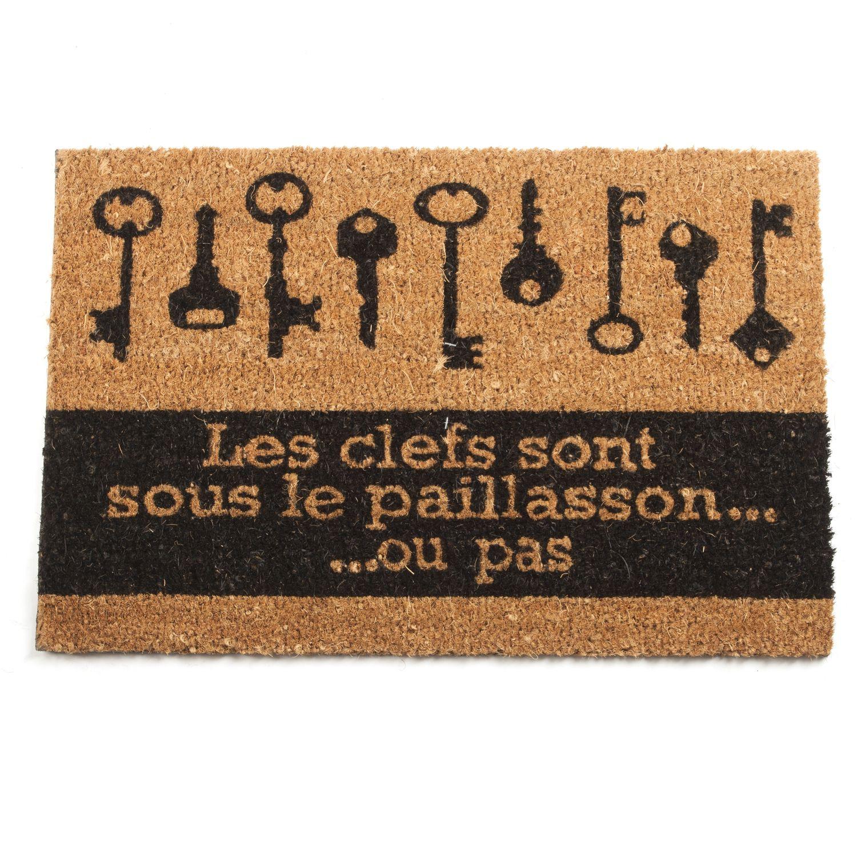 Planche À Découper Humoristique paillasson humour - 60 x 40 cm - clé sous le paillasson