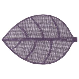 Set de table Feuille - 50 x 33 cm - Violet