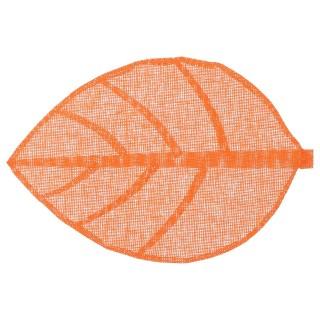 Set de table Feuille - 50 x 33 cm - Orange