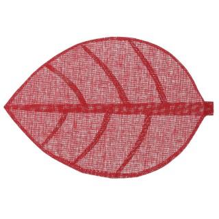 Set de table Feuille - 50 x 33 cm - Rouge