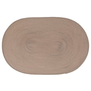 Set de table Tressé Ovale - 44 x 29 cm - Taupe