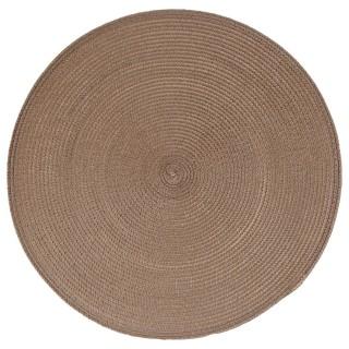 Set de table Tressé Rond - Diam. 38 cm - Taupe