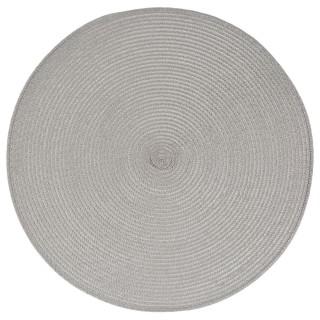 Set de table Tressé Rond - Diam. 38 cm - Gris clair