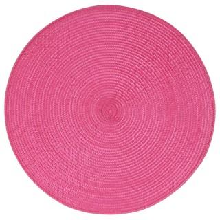 Set de table Tressé Rond - Diam. 38 cm - Fuchsia