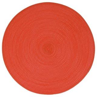 Set de table Tressé Rond - Diam. 38 cm - Orange