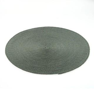 Set de table Tressé Rond - Diam. 38 cm - Gris