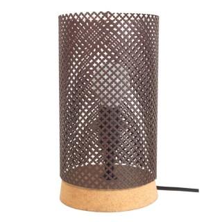 Lampe à poser Liége - H. 24 cm - Marron