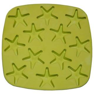 Bac à glaçons en silicone - Etoiles - Vert
