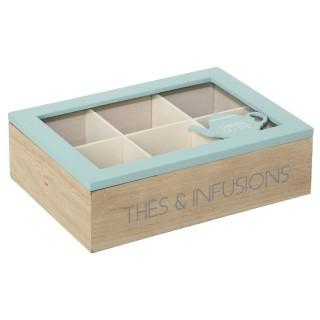 Boîte à thé Nature scandi - Bleu
