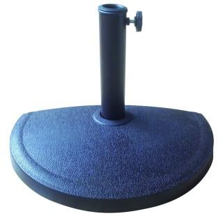 Demi Pied de parasol en résine - 10 kg - Noir