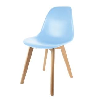 Chaise scandinave enfant - H. 56,5 cm - Bleu