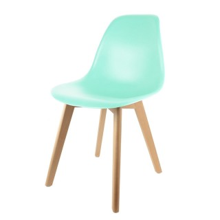 Chaise scandinave enfant - H. 56,5 cm - Vert
