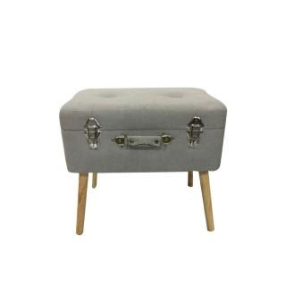 Coffre-valise de rangement - 48 x 38 cm - Gris clair