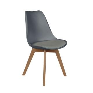 Chaise scandinave avec cousin - H. 83 cm - Gris