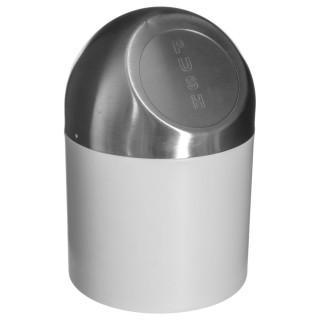 Poubelle Push - Diam. 17 cm - Blanc