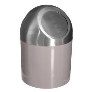 Poubelle Push - Diam. 17 cm - Taupe