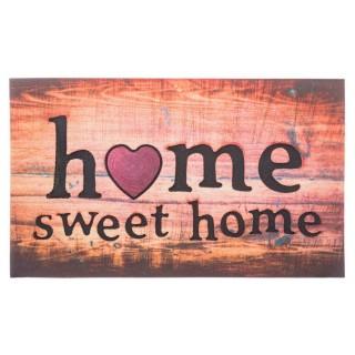 Tapis d'entrée Sweet Home - 60 x 40 cm - Multicolore