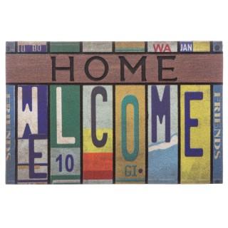 Tapis d'entrée Welcom - 60 x 40 cm - Multicolore