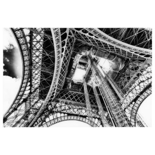 Toile photo plexiglas Eiffel - 80 x 120 cm - Gris