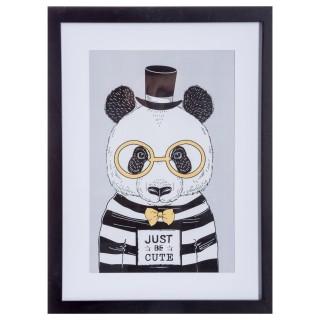 Cadre photo déco pour enfant - 40 x 30 cm - Panda