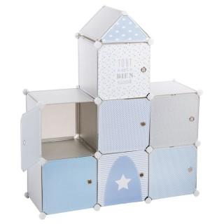 Château de rangement - 7 cases - Bleu