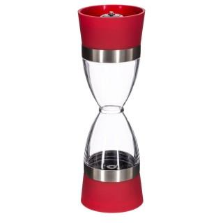 Sablier salière poivrière - Diam. 6 cm - Rouge