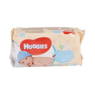 56 Lingettes pour bébé - Pure Huggies