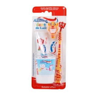 Kit dentaire pour enfant 3-5 ans Popsy - Spécial Dents de lait - Orange Aquafresh