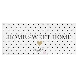 Plaque metallique de décoration - Home Sweet Home - Noir