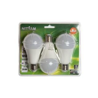 3 Ampoules LED Globe E27 - 12W