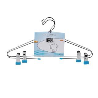 2 Cintres à pinces Solo - 42 cm - Bleu