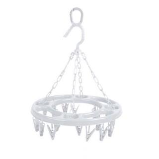 Séchoir à linge rond à suspendre - 18 Pinces - Blanc