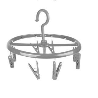 Séchoir pour sous-vêtements rond à suspendre - 8 Pinces - Gris